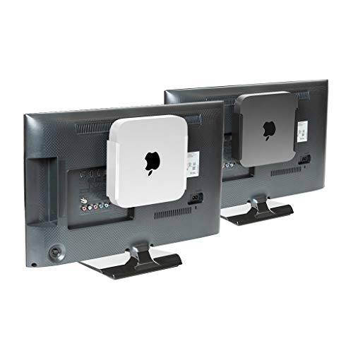 HIDEit MiniU Mac Mini Mount - Mount for Mac Mini (Silver) - Wall Mount, Under Desk Mount and VESA Mount - Made in The USA and Trusted Worldwide (Wall Mount Hard Drive)