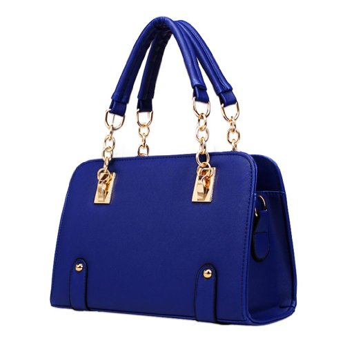Hee Grand Femme Sac à Main Epaule Messenger Bag fourre-tout Bleu Fonce