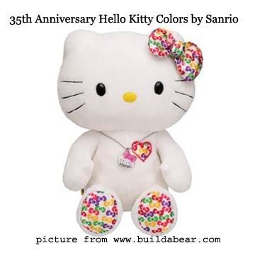 Build A Bear Hello Kitty 35th Anniversary Plush Toy (Hello Kitty Build A Bear)