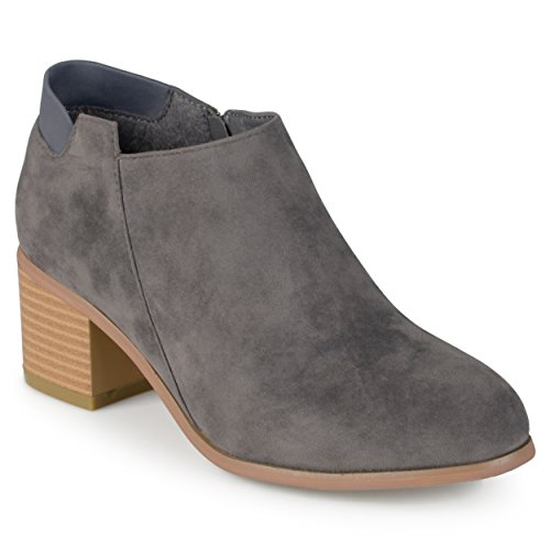 Faux Grey Collection Suede Faux Suede Journee Journee Ankle Womens Collection Grey Booties Journee Ankle Womens Booties RHwAndZ