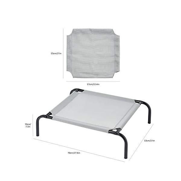 Amazon Basics – Erhöhtes Haustierbett mit kühlender Wirkung, Gr. M, 110 x 65 x 19 cm, Grün