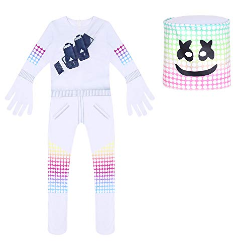 Riekinc DJ Set Boys Party Dress Up with Full Head Masks Halloween Cosplay Costume
