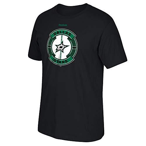 - NHL Dallas Stars Men's Slick Pass Short Sleeve Tee, Medium, Black