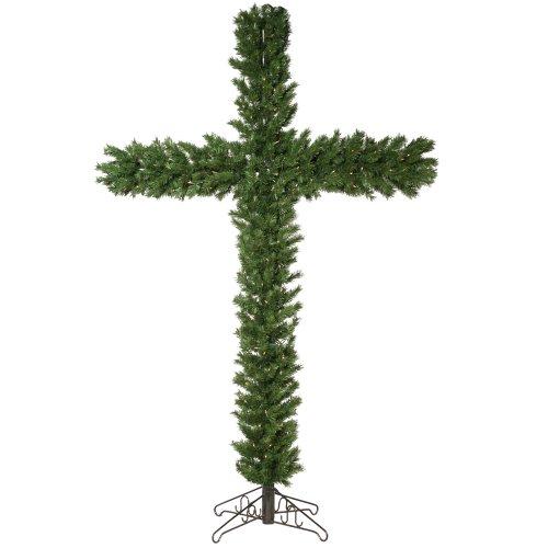Vickerman 7.5' Pre-Lit Cross with 250 Clear (Christmas Tree Cross)