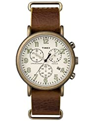 Timex Mens Weekender Leather Chronograph Watch - TW2P85300JT