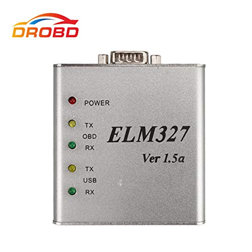 CREACLE New ELM327 V1.5 USB Metal Aluminum PIC18F2480 & FTDI FT232BL chip OBD2 Auto Diagnostic-Tool ELM 327 Al Code Reader Scanner V1.5