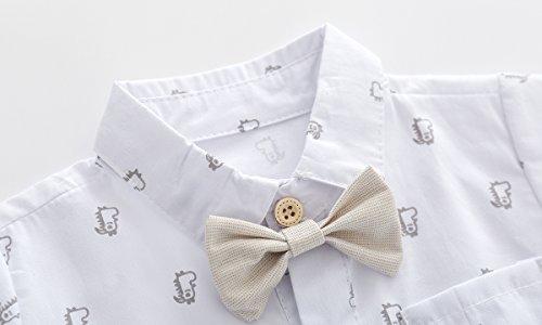 71473f50e Boarnseorl Baby Boys Gentleman Outfits Suits, Infant Short Sleeve Shirt+Bib  Pants+Bow