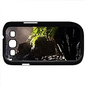 waterfall (Waterfalls Series) Watercolor style - Case Cover For Samsung Galaxy S3 i9300 (Black)