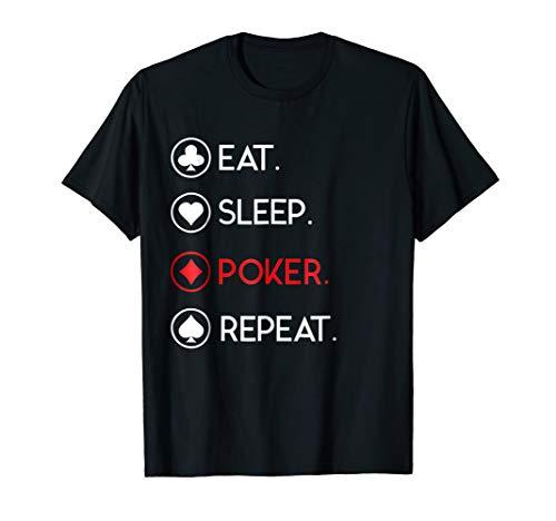 Mens Eat Sleep Poker Repeat - Funny CardSharp TShirt XL Black