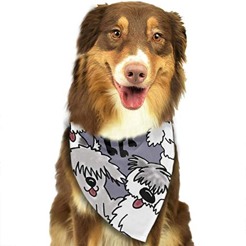(DMFS Dog Bandana Christmas Costume Pet Old English Sheepdogs Scarf Cat Bandana for)