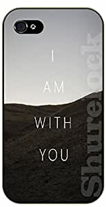 iPhone 5C Bible Verse - Mountains: I am with you - black plastic case / Verses, Inspirational and Motivational