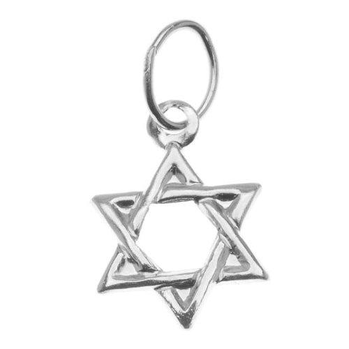 Beadaholique Sterling Silver Charm, Jewish Star of David 11mm, 1 Piece, Silver - Jewish Star Charm