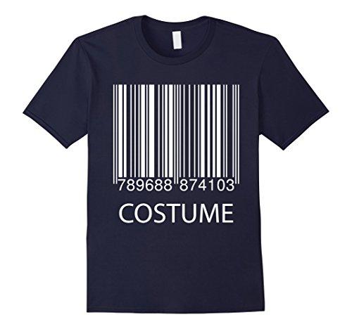 Mens Barcode Halloween Costume Scan Me T-Shirt XL Navy
