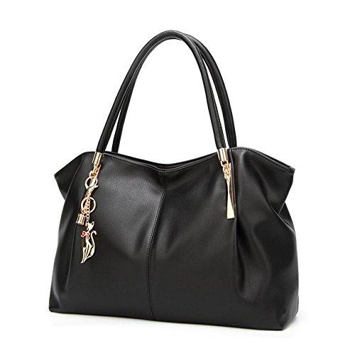 Meaeo Black Handbag Bag White Bag Tote Diagonal Bag Shoulder Fashion WHrfzSWnd