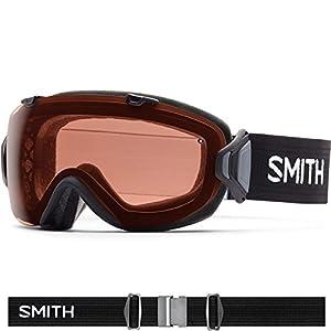 Smith Optics I/OS Women's Interchangable Series Ski Snowmobile Goggles Eyewear - Black/Polarized Rose Copper / Medium