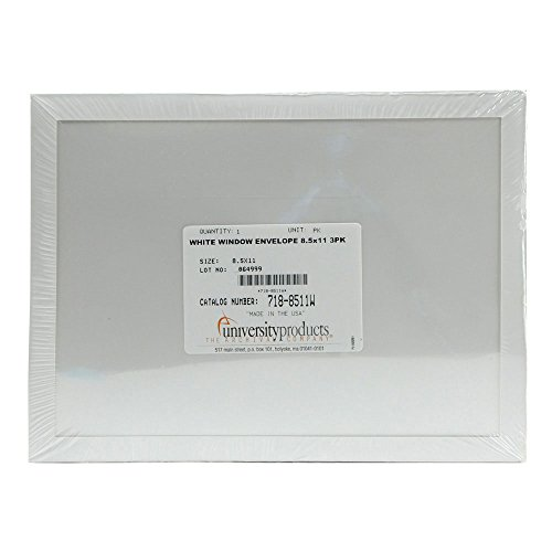 Lineco Window Envelope, Archival Polyester, 8.5 X 11 inches, White, Pack of 3 (718-8511W) by Lineco (Image #1)