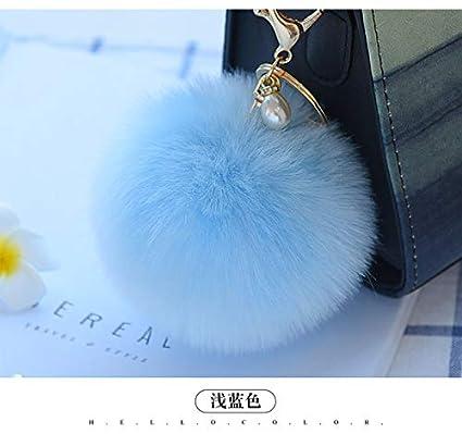 Amazon.com: Rarido 10CM Fluffy Fake Fur Pompom Keychain ...