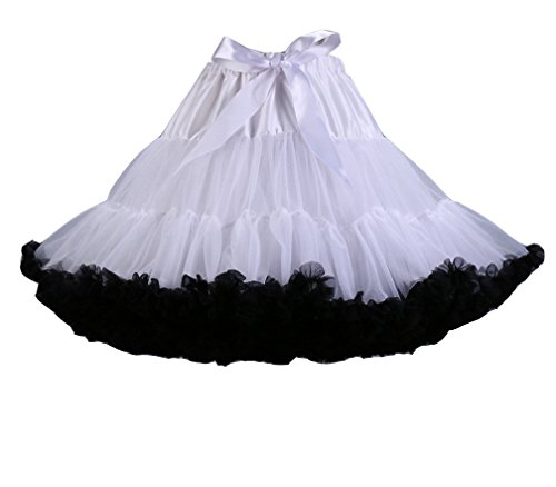 Tutu multistrato Petticoat Frilly Ballet Donna Bubble bianca Nero Gonna Ruffle Balletti Danza Gonna qgnOE