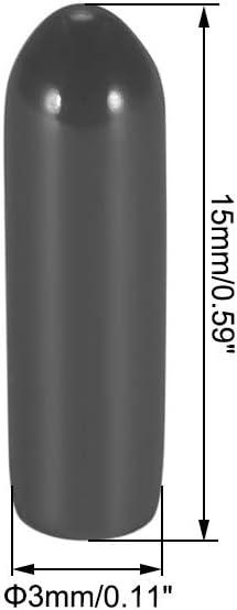 Sourcing Map 10stk Schwarz Kunststoff Antennenrohr Und Kappe Schwarz Für Rc Fernbedienung Fahrzeugempfänger Antenne Auto