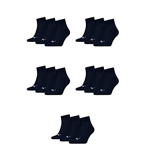 15 pair Puma Sneaker Quarter Socks Unisex Mens & Ladies 321 - navy