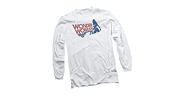 Wonder Woman 75th Anniversary Gold Logo Licensed Adult Pullover Hoodie