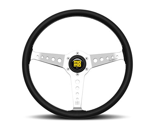MOMO Steering Wheel Heritage California 360mm Chrome Spokes New 2017 CAL36BK2S (Leather Prototipo)