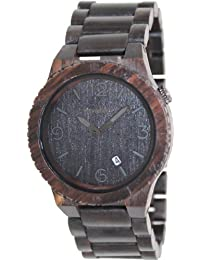Wewood Men's Alpha ALPHA-BLACK Brown Wood Analog Quartz Watch with Brown Dial