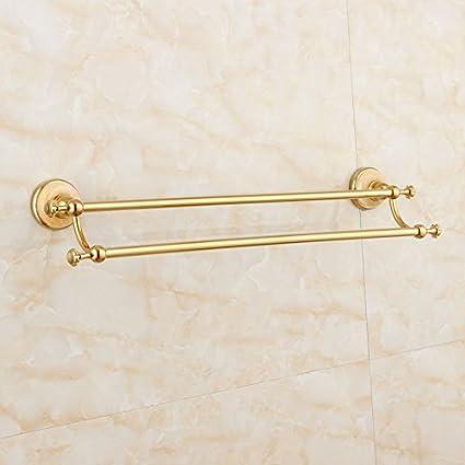 Znzbzt Jade de oro-cobre toallero baño Toalla adornos de metal chapado en oro,
