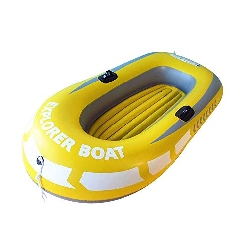 LLSZ Thick Wear-Resistant Inflatable Kayak Canoe 2-Person Inflatable Boat Set with Oars Inflatable Boat Kayak (Latest Model)