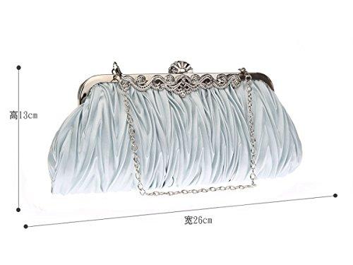 Bolso de embrague para mujer clutch plata