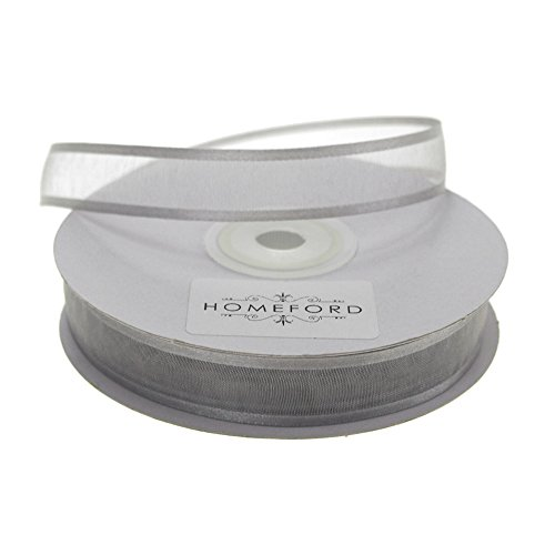 Nylon Ribbon Organza - Homeford FCR000SES0508012 Satin-Edge Sheer Organza Ribbon 5/8