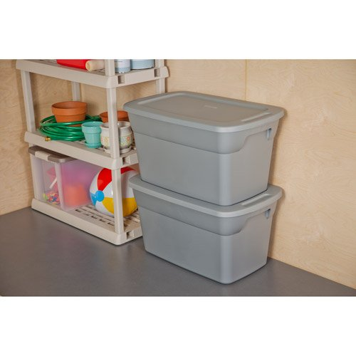 Sterilite 30-gallon (120-quart) Storage Box, Set of 6. This Pack of Spacious Gray Lidded Bins Will Help You Declutter Your Home and Office Space Efficiently and Easily.