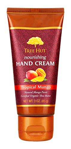 Tropical Butter - Tree Hut Nourishing Hand Cream Tropical Mango, 3oz, Ultra Hydrating Hand Cream for Nourishing Essential Body Care