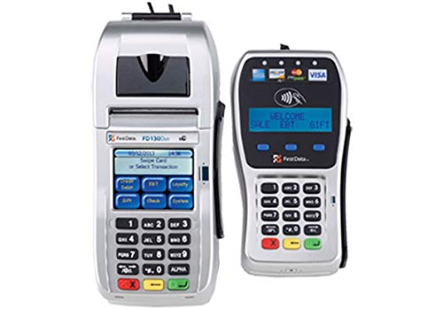 First Data FD-130 Duo Refurb Credit Card Terminal and FD-35 Refurb PINpad with Wells 350 Encryption (130 First Terminal Data)