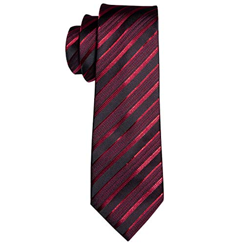 Corbata de lujo masculina para hombres Corbata de seda a rayas ...