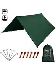 KALINCO 10X10FT/10X15FT,tarp Tent,Picnic mat tarp Tent Days Exchange Service Warranty, pu Waterproof Camping tarp Tent rain Fly Picnic mat Survival shelter Sunshade