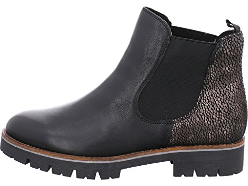 Caprice Womens Faria Black Combi Leather Chelsea Boots 9-25406-29 019 Black vnUINhG