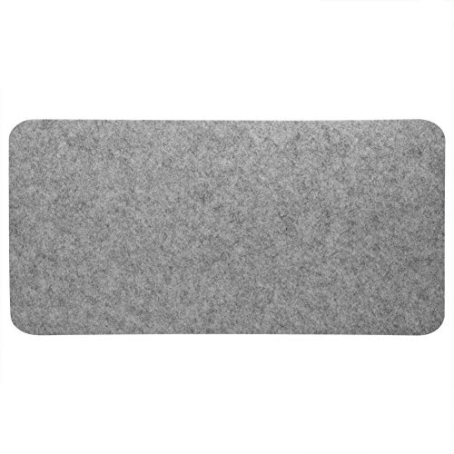 Acogedor Mouse Pad Pad Mat,68x33cm Felts Table Mouse Pad Office Desk Laptop Mat Anti-Static Computer PC Pads(Light Gray)
