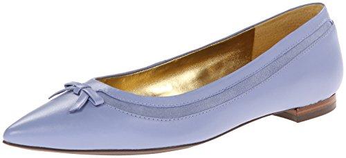 Lauren Sally Ballet Flat Wedgewood Blue Nappa