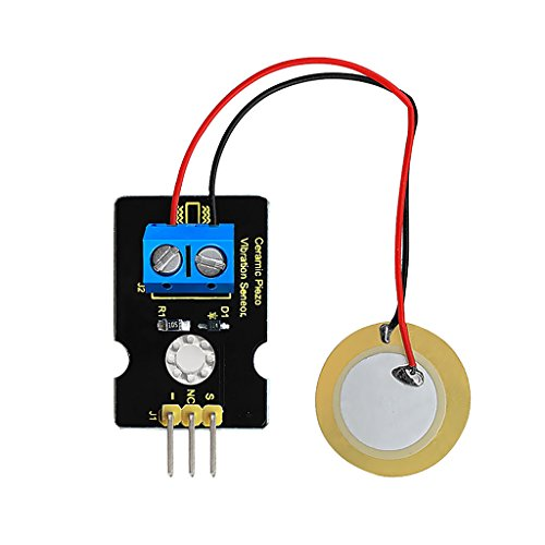 MonkeyJack Analog Piezoelectric Ceramic Vibration Sensors for Arduino,Can Sense The Strength Of Vibration And Pressure,Into Analog Voltage