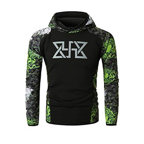- QBQCBB Mens Fitness Hoodie Sweatshirts Long Sleeves Bodybuilding Skin Tops Blouse(Mint Green,XXXL)