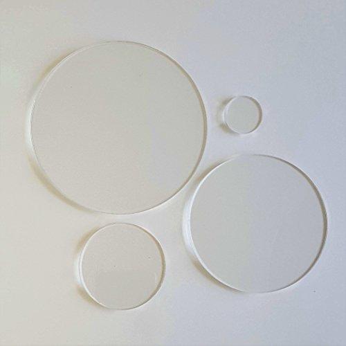 Laser Cut Circle (25 ACRYLIC CIRCLE CLEAR BLANK DISCS 1/8