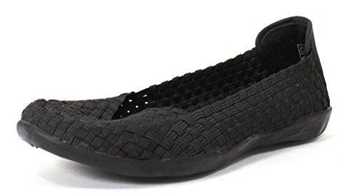 Bernie Mev Women's Braided Catwalk Black Flats - 39 M EU