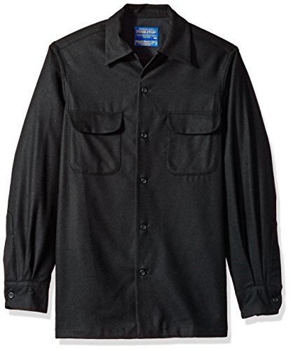 Pendleton Men's Long Sleeve Classic-Fit Board Shirt, Black Flannel-20042, - Northwest Shirt Black
