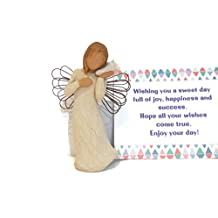 Willow Tree Thinking of You Bundle with Good Wish Note Card, Best Mother, Father, Daughter, Son, Brother,Sister, Grandparents Gift