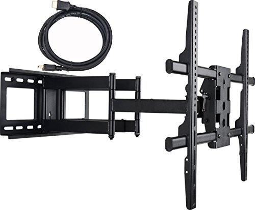 VideoSecu Dual Arm Articulating Mount Cantilever LCD Plasma LED TV Wall Mount for most 37-70 in Sony LG Vizio Panasonic Samsung Toshiba Westinghouse Sharp AQUOS Dynex Dell, Bonus 10 ft HDMI cable A37 (Tv Plasma Westinghouse)