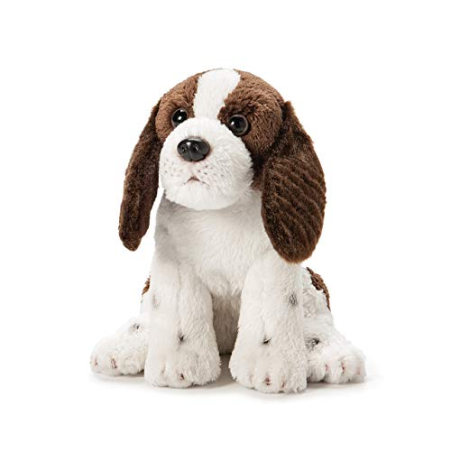 - DEMDACO Springer Spaniel Plush Fabric Beanbag Figure Toy Brown and White, 6 Inch