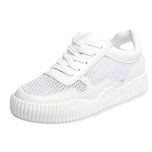 Chenang Sommer Weiße Schuhe Damen Spitze Mode Freizeitschuhe Damen Sneaker Damen Advantage Clean Fitnessschuhe Damen Laufschuhe Schwarz Weiß