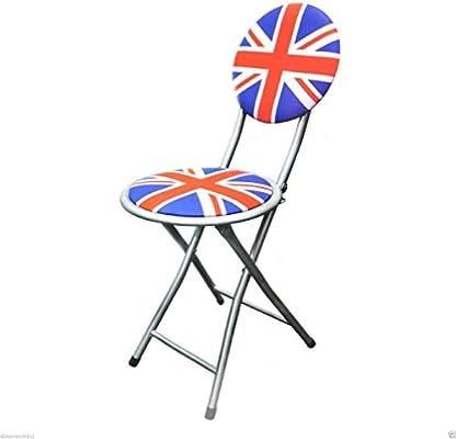 Union Jack silla plegable portátil camping de metal plegable ...