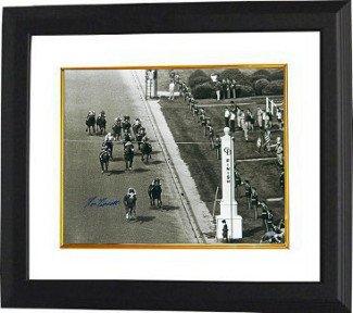 Secretariat Signed Autograph 1973 Kentucky Derby Horse Racing 16x20 Photo Vintage B&W Finish Line Custom Framed - Autographed Autograph